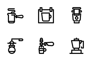 Coffee Maker Icon Pack