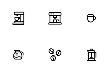 Coffee Outline Icon Pack