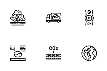 Coffee Production Icon Pack
