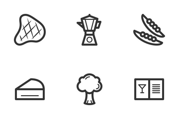 Coffee & Restaurant Icon Pack