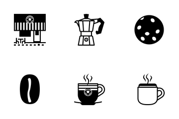 Coffee Shop (glyph) Icon Pack