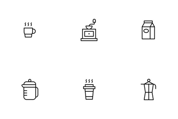 Coffee Thinline Icon Pack
