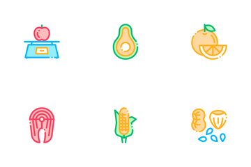 Collection Healthy Food Icon Pack