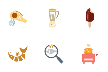 Colored Food Vector Icons Icon Pack