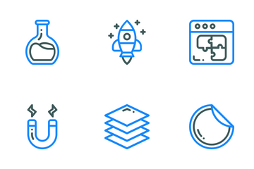 Colored Line Think Creative Icon Pack