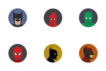 Comics Heroes & Avatars Icon Pack