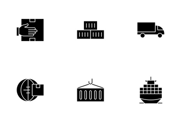 Commerce And Shipment - Glyph Icon Pack