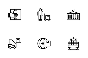 Commerce And Shipment - Outline Icon Pack