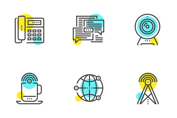 Communication And Connectivity Icon Pack