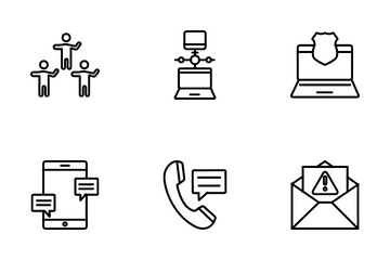Communication And Networking Icon Pack
