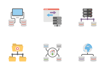 Communication And Networking Flat Icons 1 Icon Pack