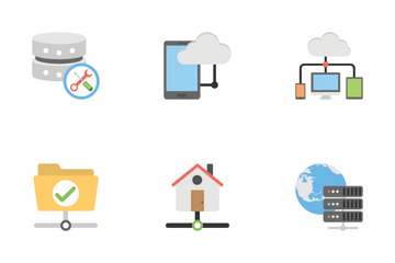 Communication And Networking Flat Icons 2 Icon Pack
