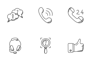 Communication Doodle Icons  Icon Pack
