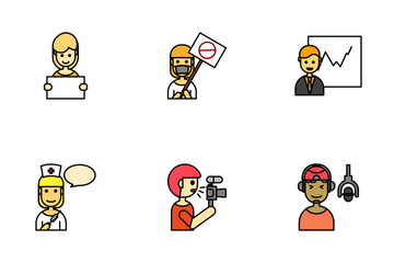 Communication Interaction Icon Pack