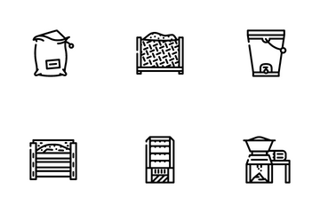 Compost Production Icon Pack