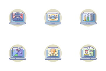 Computer Activities Icon Pack