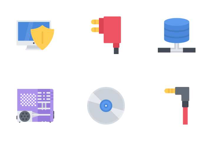 Computer & Data Flat Icon Pack