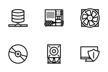 Computer & Data Outline Icon Pack