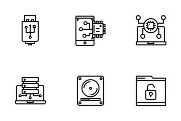 Computer Data Storage Icon Pack