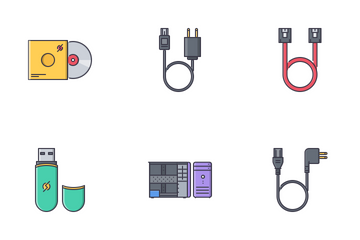 Computer Filled Outline Icon Pack