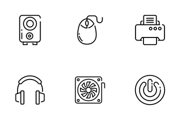 Computer Hardware And Devices Icon Pack