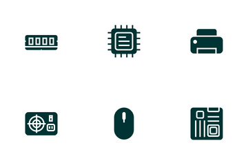 Computer & Hardware (Glyph Green) Icon Pack