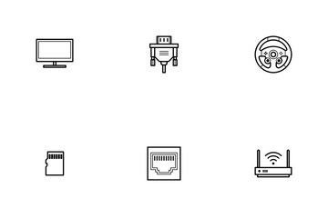 Computer Hardware - Line Icon Pack