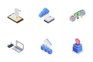Computer Network Technology Icon Pack