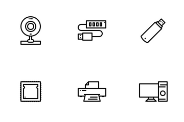 Computer Peripherals Icon Pack
