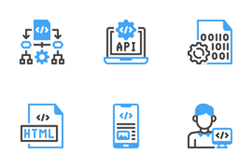 Computer Programming Code Icon Pack