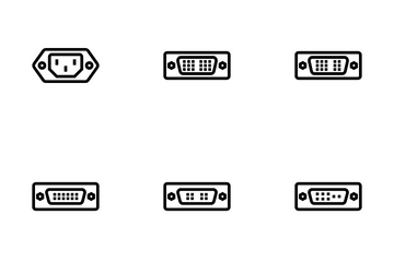 Connectors And Cables Vol  1 Icon Pack
