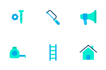 Construction And Tools - Flat Icon Pack