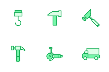 Construction And Tools - Mono Lineal Icon Pack