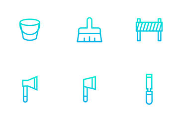 Construction And Tools - Outline Gradient Icon Pack
