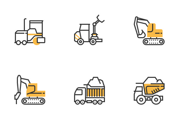 Construction Cars Icon Pack