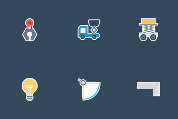 Construction Flat Paper Icons Icon Pack