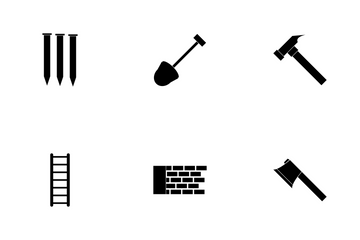 Construction Glyph Icon Pack