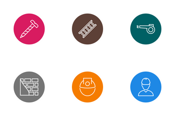 Construction Line Circle Icon Pack
