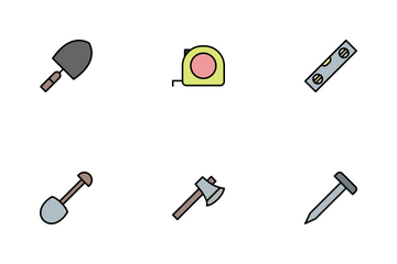 Construction Line Filled Icon Pack
