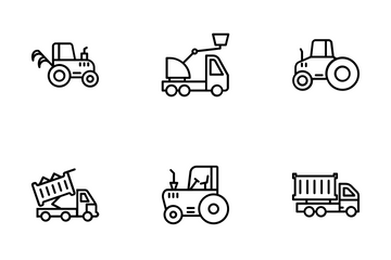 Construction Machinery Icon Pack