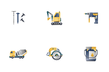 Construction Tool Gradient - Foreman Equipment Icon Pack