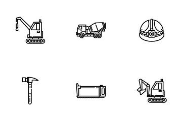 Construction Tool Outline- Foreman Equipment Icon Pack
