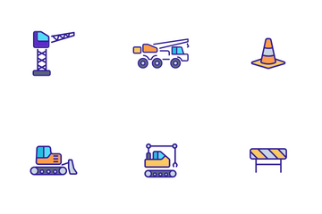 Construction Work Elements Icon Pack