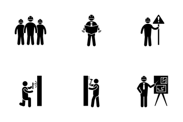 Construction Workers Icon Pack