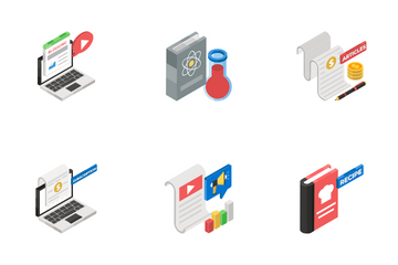 Content Management And Blogging Icon Pack