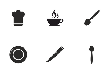 Cooking And Kitchen Dishes Icon Pack