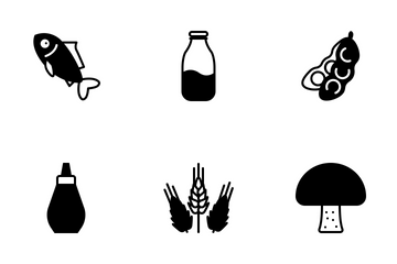 Cooking Ingredients (glyph) Icon Pack