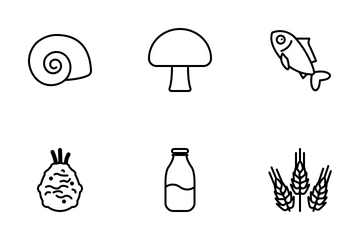 Cooking Ingredients (outline) Icon Pack