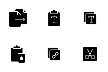 Copy Paste - Glyph Icon Pack