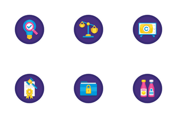 Copyright Law Icon Pack